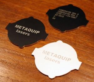 placas de identificación de aluminio con grabado láser