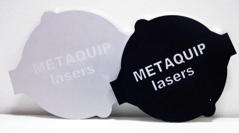 placas de identificación de aluminio con grabado láser 3
