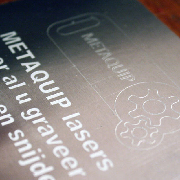 Laser engraving of stainless steel nameplates with a fiber laser