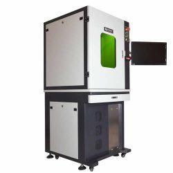 Gesloten kastmodel fiberlaser graveer machine