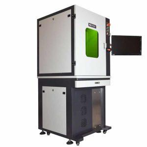 Closed cabinet fiber laser engraving machine