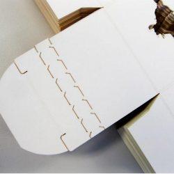 Embalaje de cartón y corte láser.