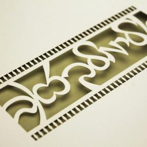laser cutting paper