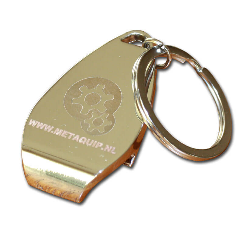 Key ring laser engraving with a fiber laser