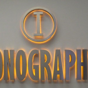 laser cutting-illuminated advertising signs
