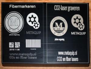 fiber laser co2 laser anodized aluminum detail