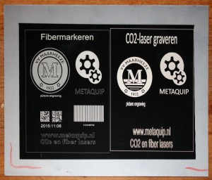 fiber laser co2 laser-lacquered aluminum