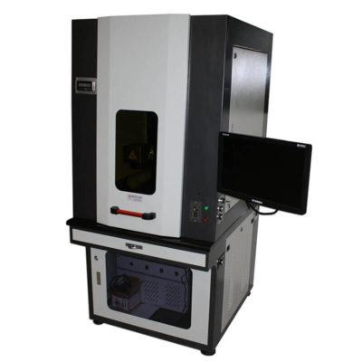 Industriële fiberlaser metaal graveermachine