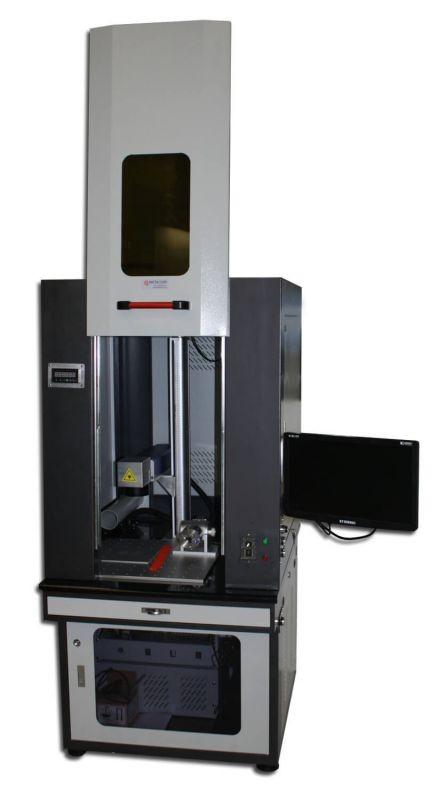 Industriële fiberlaser metaal graveermachine voor text of barcodes te graveren