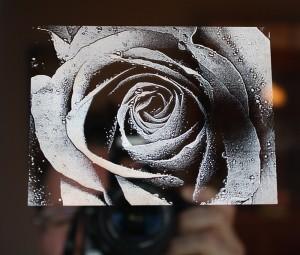Spiegellasergravur mit einem Faserlaser (hohe Auflösung)