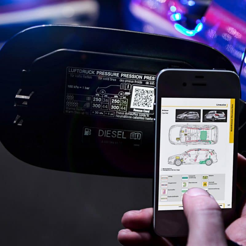 Product traceability QR code for automotive industry