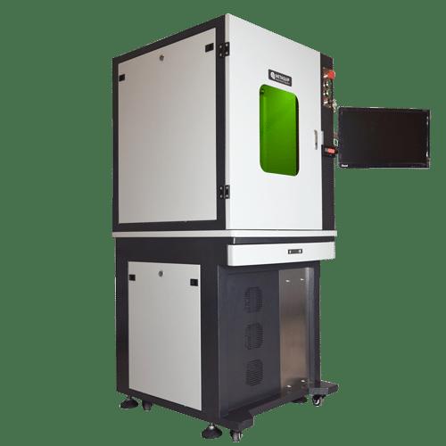 Fiberlaser lasergraveren van metaal rvs zilver