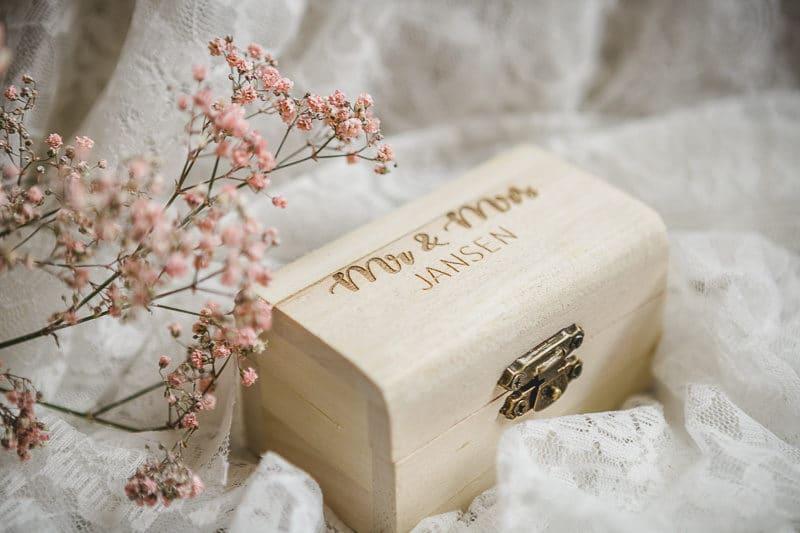Caja de almacenamiento de madera grabado láser