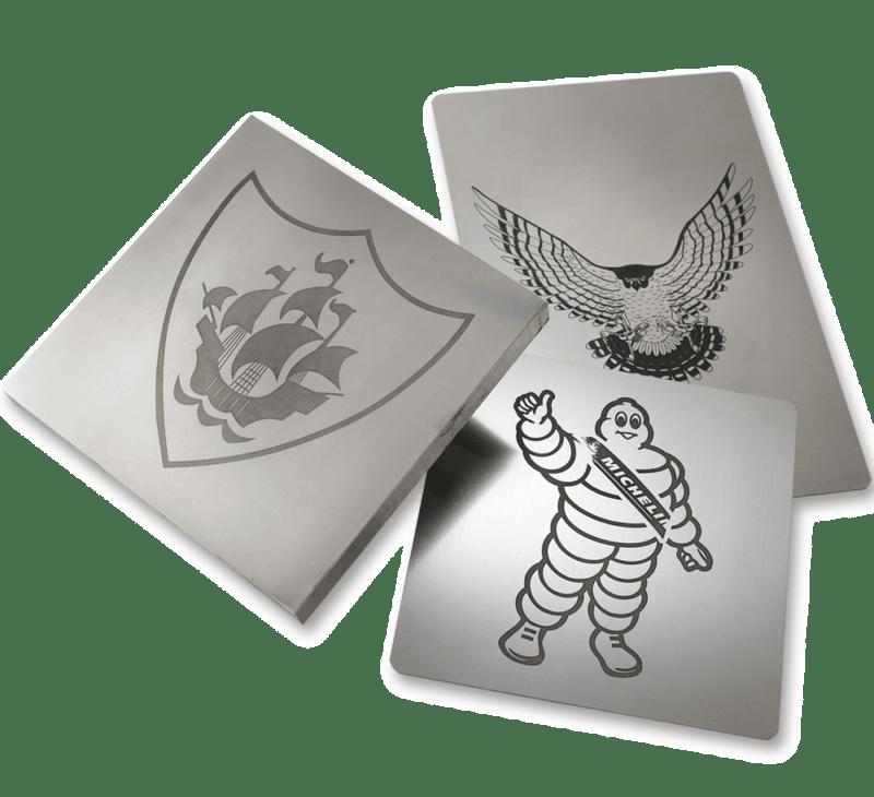 Grabado láser de bloques de impresión tampo print