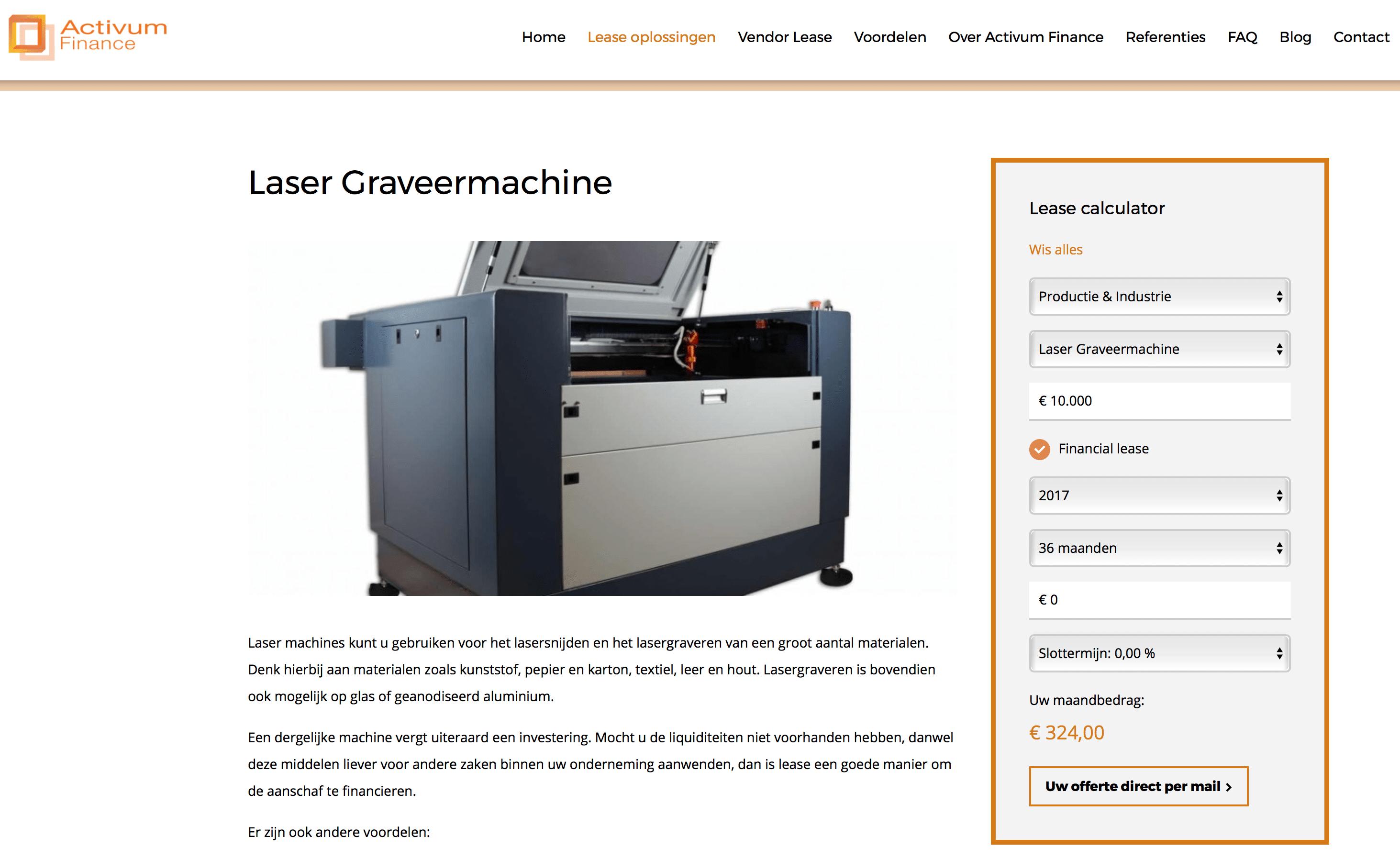 Leasen laser machine