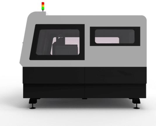 Fiber laser snijmachine - zijkant