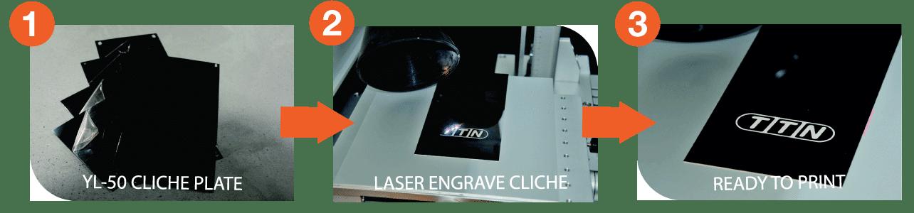 cliche laser engraving