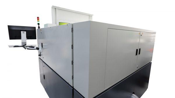 Back of MetaQuip FC1390 metal laser cutter