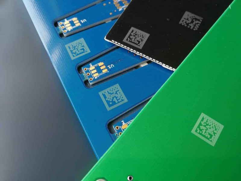UV laser barcodes op pcb materiaal