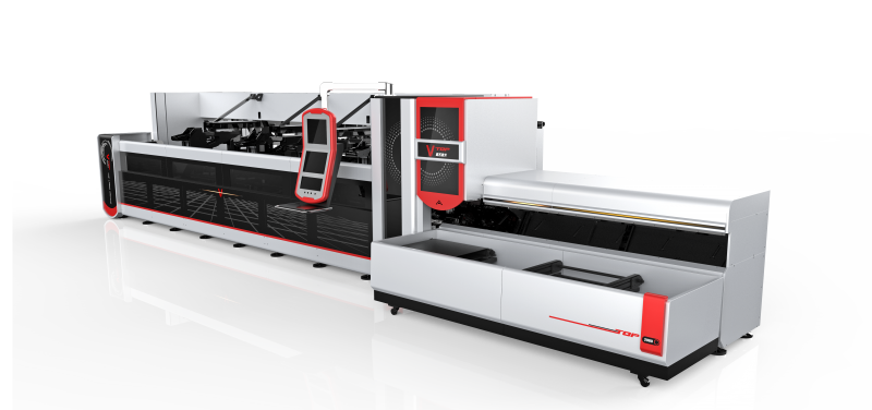 Metal tube laser cutter