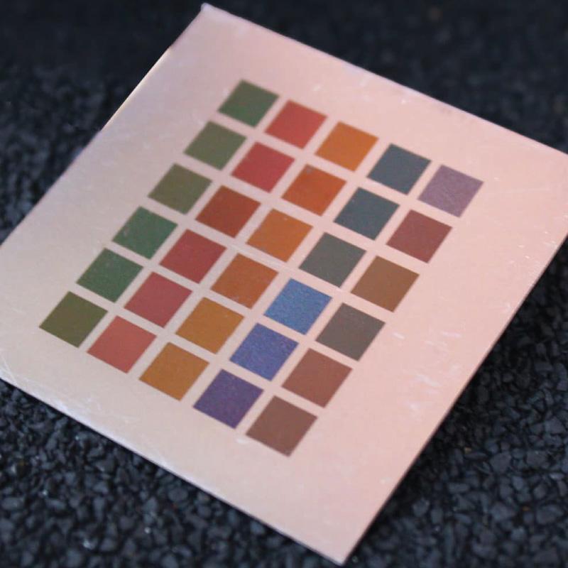 Grawerowanie laserowe w kolorze w kolorze
